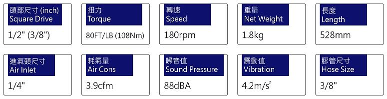 氣動棘輪扳手 PRW-188L