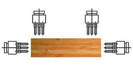 自動退料雙端鑽孔機 ( 氣壓式 )
