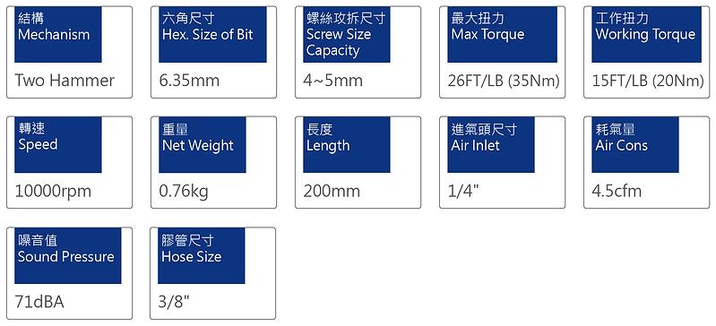氣動起子 PSD-3014H