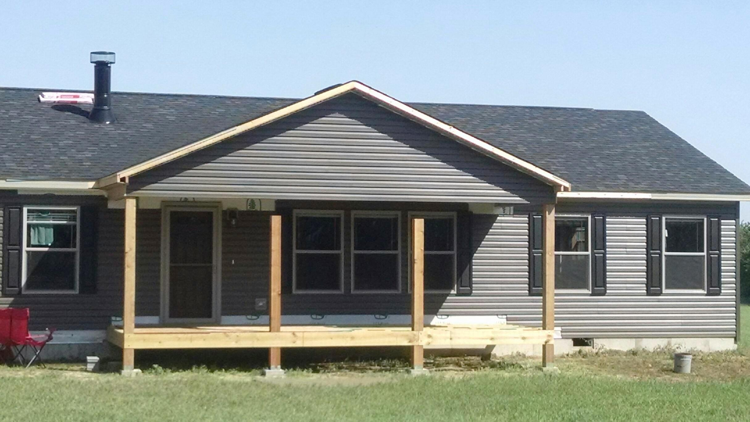 Covered Porch built on site
