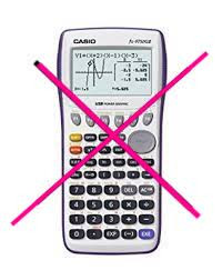 graphical calculators not permitted