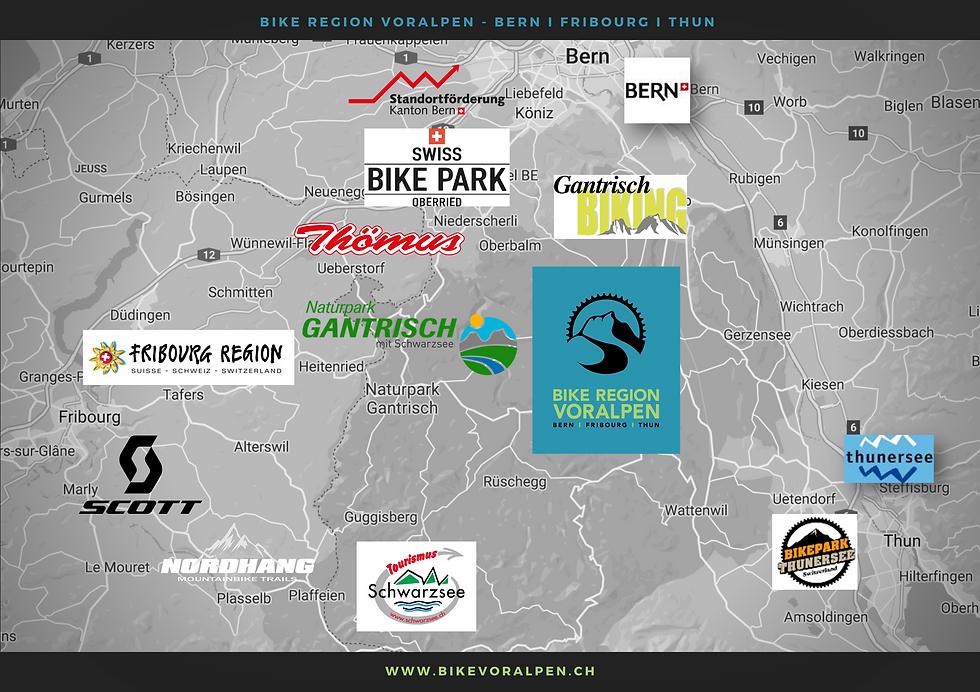 Karte Vereinsmitglieder Bike Region Vora
