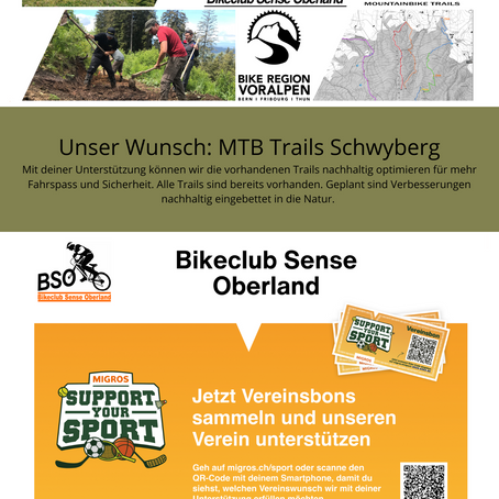 MTB Trails Schwyberg - Support your Sport