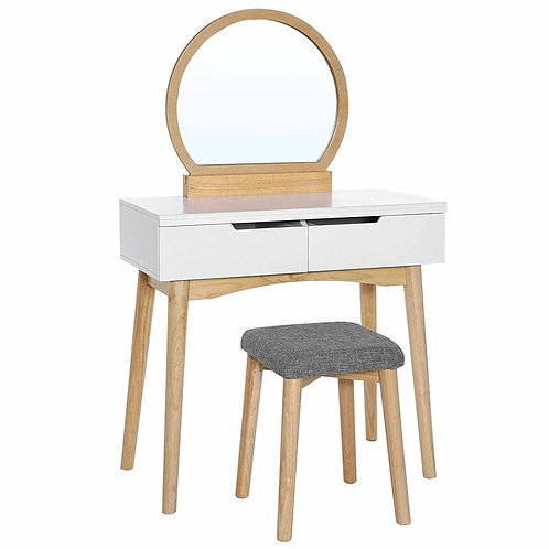 Arinze Vanity Set with Stool and Mirror