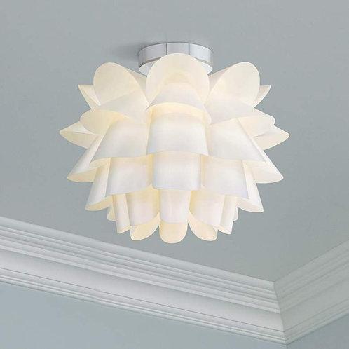 """Possini Euro Design White Flower 15 3/4"""" Wide Ceiling Light"""