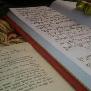 Hand written books in Mirror Image by Piyush Goel