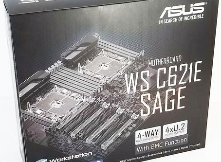 Krótki test płyty Asus C621E SAGE +  2 Xeony Platinum 8173M