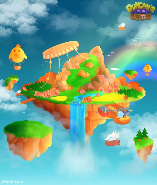 Sky Farm Island Concept