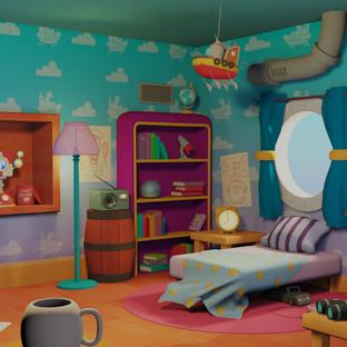 Captain Duncan's Bedroom! (w/ Art Breakdown