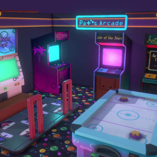 Retro Arcade! (Hand-Painted)