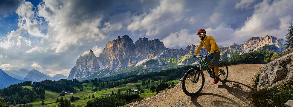 Person Riding Mountain Bike