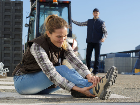 Foot and Ankle Injuries in the work place