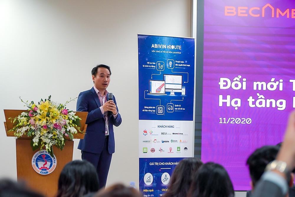 Ông Đặng Tấn Đức, Becamex, tham luận tại techfest 2020