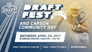 LA Chargers Set To Headline DraftFest 2017 and Carson Community Day