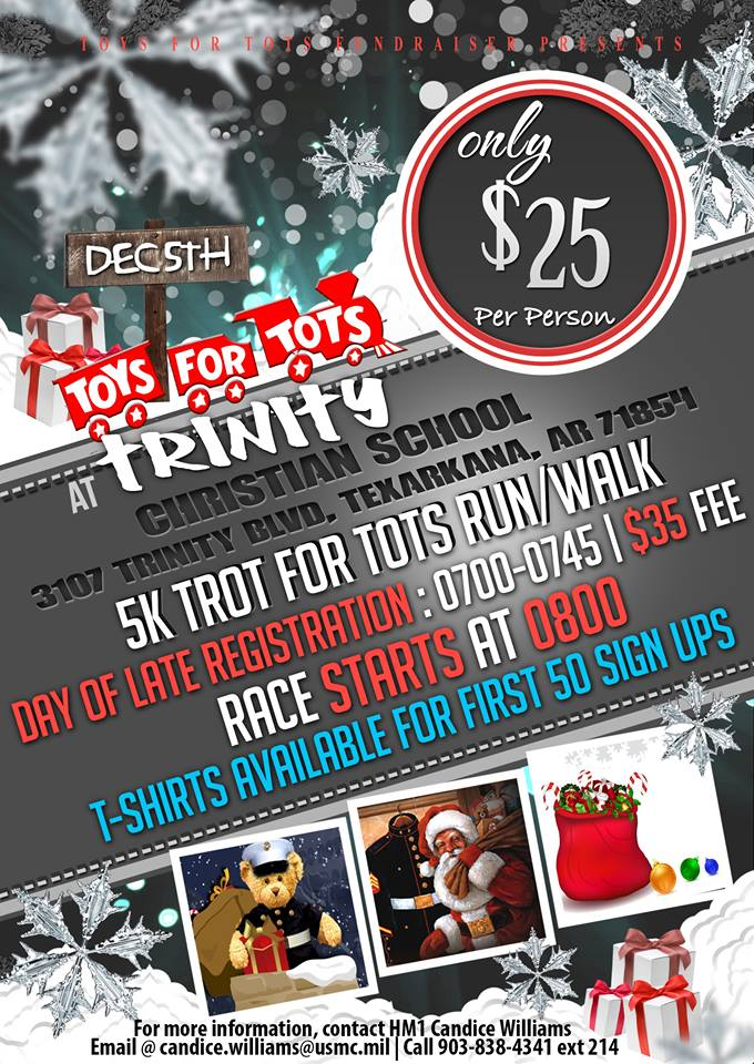 Toys for Tots 5k Trot for Tots Flyer