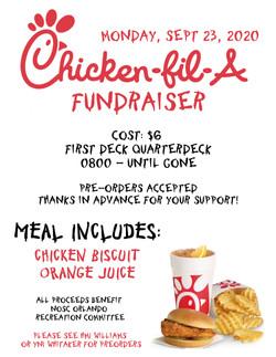 Chick-Fil-A Fundraiser Flyer