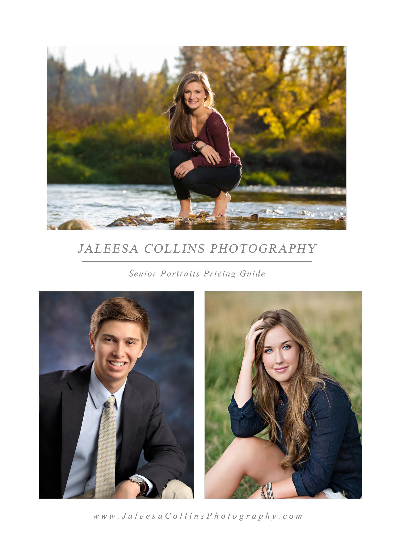 Jaleesa Collins Photography Senior Portraits Pricing Guide