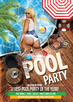 Ryan and Debo Pool Party Flyer