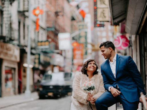 VINTAGE EXPRESS / Marianny & Cesar - City Hall Elopement