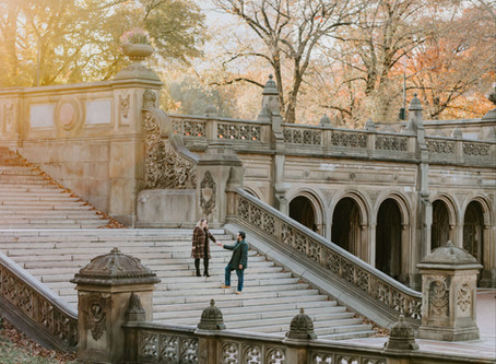 Engagement session in Central Park / Karen & Dago