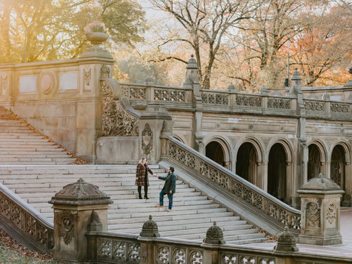 Engagement session in Central Park / Karen & Dago
