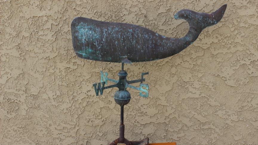 Vintage Whale Weathervane