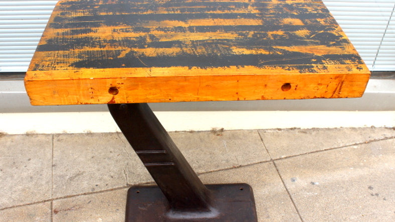Amazing Old Industrial Console Table