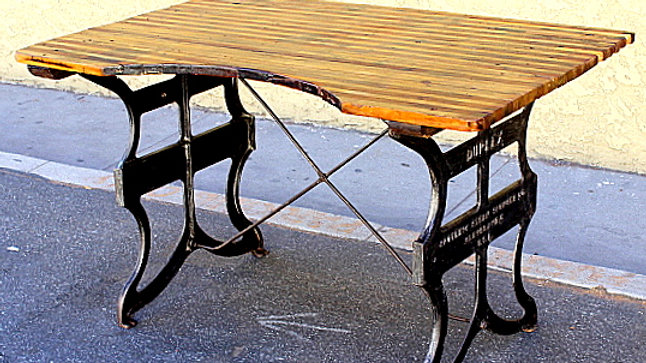 Old Industrial Dining or Work Table