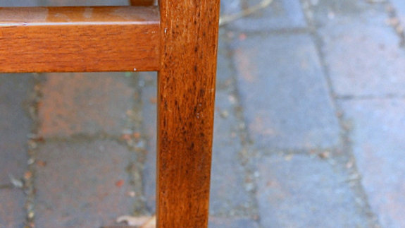 Pair Custom Asian Arts and Crafts Teak Chairs