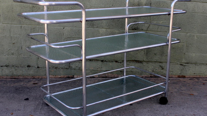 Brown Jordan Mid Century Bar / Patio Cart