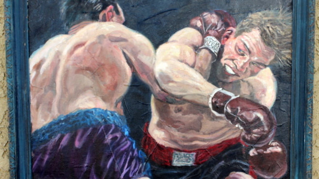Boxing Oil Painting