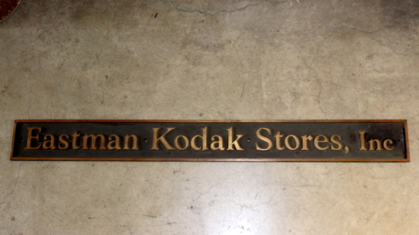 Bronze Eastman Kodak Stores Sign