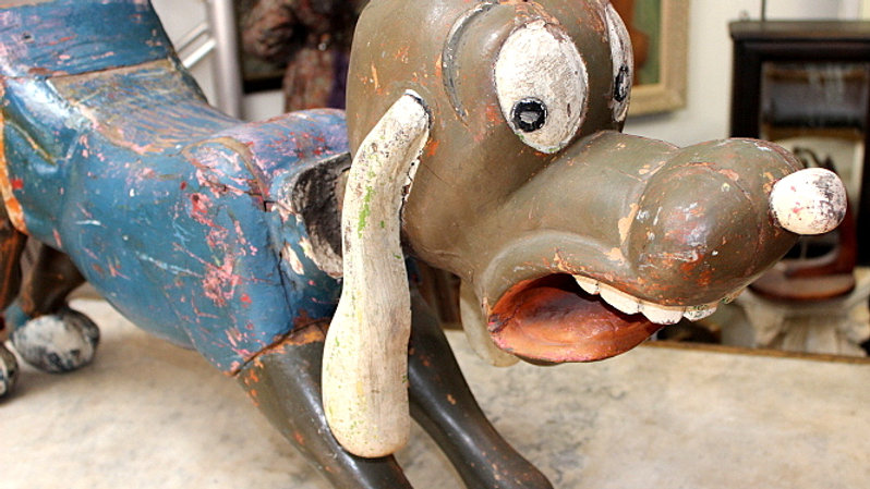 Pluto Carousel Wooden Figure