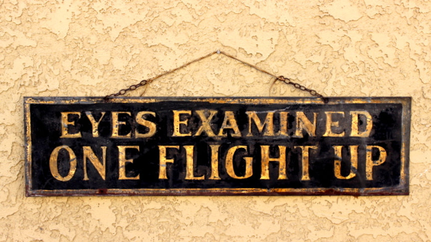 Old Gilded Opticians Tin Sign