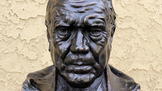 Old Bronze Bust of Stately Gentleman