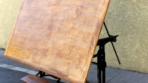Industrial Style Drafting Table