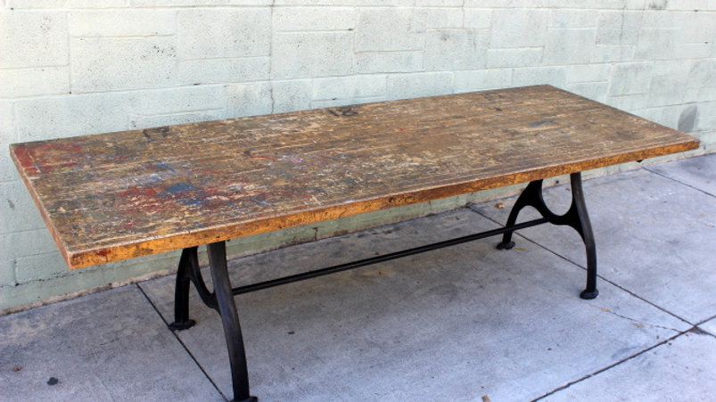 Large Old Industrial Table