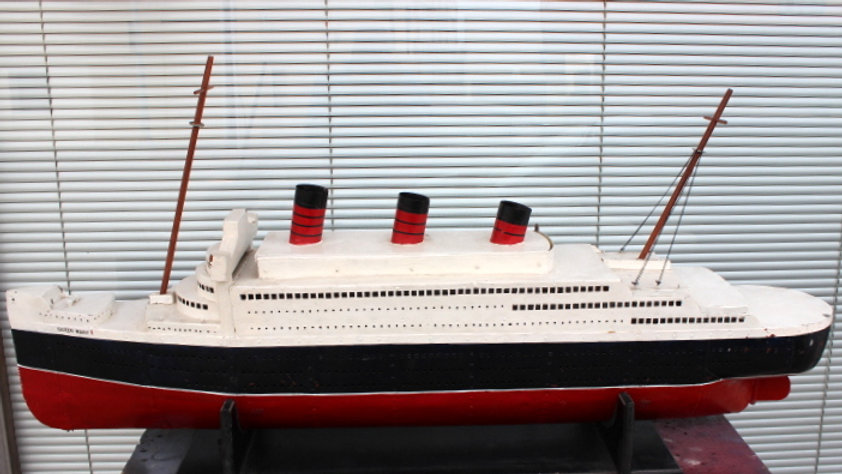 Metal Hand Crafted Model of Queen Mary