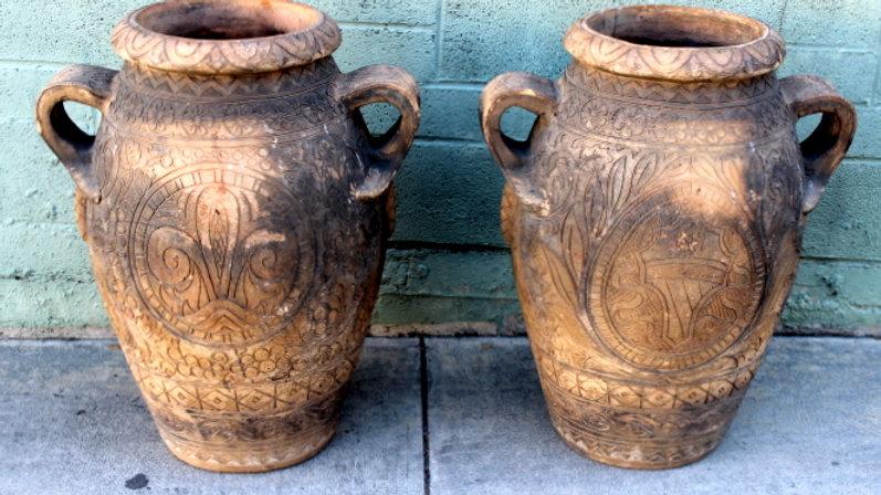Italian Terra Cotta Oil Jar Pots