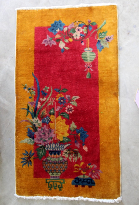 Small Very Colorful Chinese Rug Mysite 3