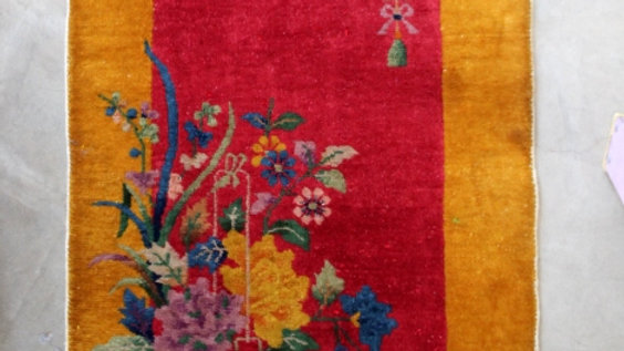 Small Very colorful Chinese Rug