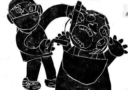 第30回日専連全国児童版画コンクール「熊本県知事賞」