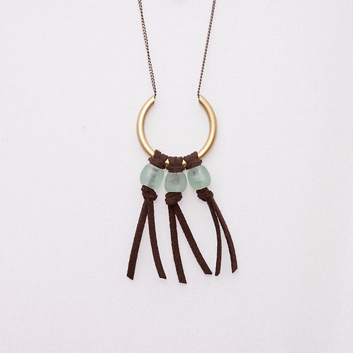 Fringe and Glass Necklace