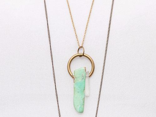 Chrysoprase Circle Necklace