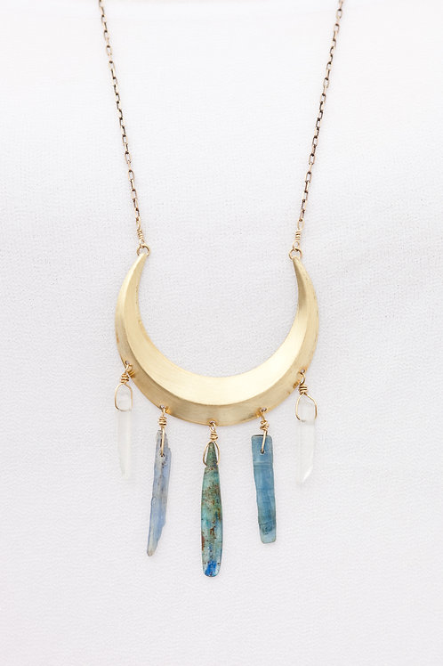 Kyanite Crescent Necklace