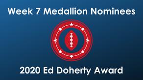Clark, Feely, Hancock, Keene, Roebuck & Sutton Earn Week 7 Ed Doherty Award Nomination Medallions