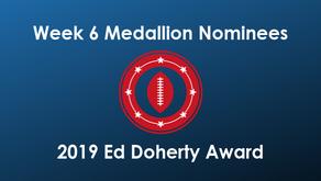 Calloway, Cisneros, Freeman, Haen, Purdy & Smith Earn Week 6 Medallions