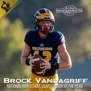 Brock Vandagriff named National High School Quarterback of the Year