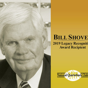 Bill Shover to Receive the 2019 Legacy Recognition Award™