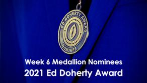 Allen, Bucannon, Damante, Hipa, Joplin & Legg Earn Week 6 Ed Doherty Award Nomination Medallions™